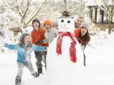 Kids can enter snowman-building contest