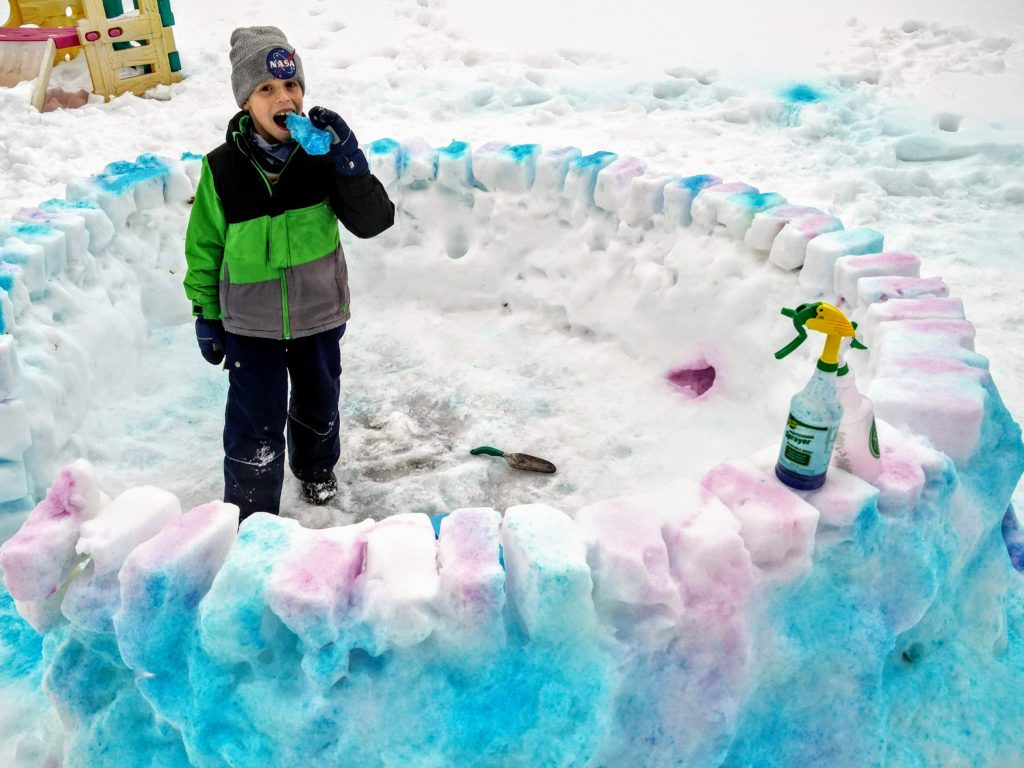 Frosty fun with a snow fort contest