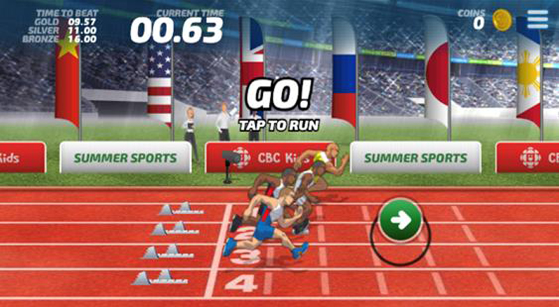 Website about Olympics geared to kids
