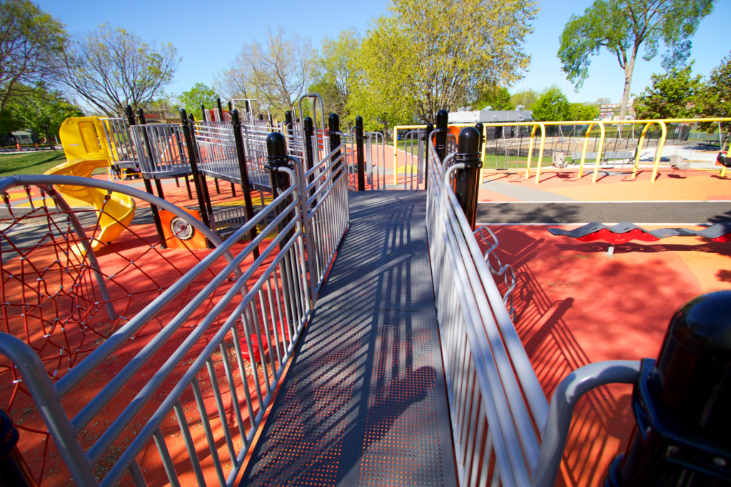 Playground makeover at park in Ahuntsic