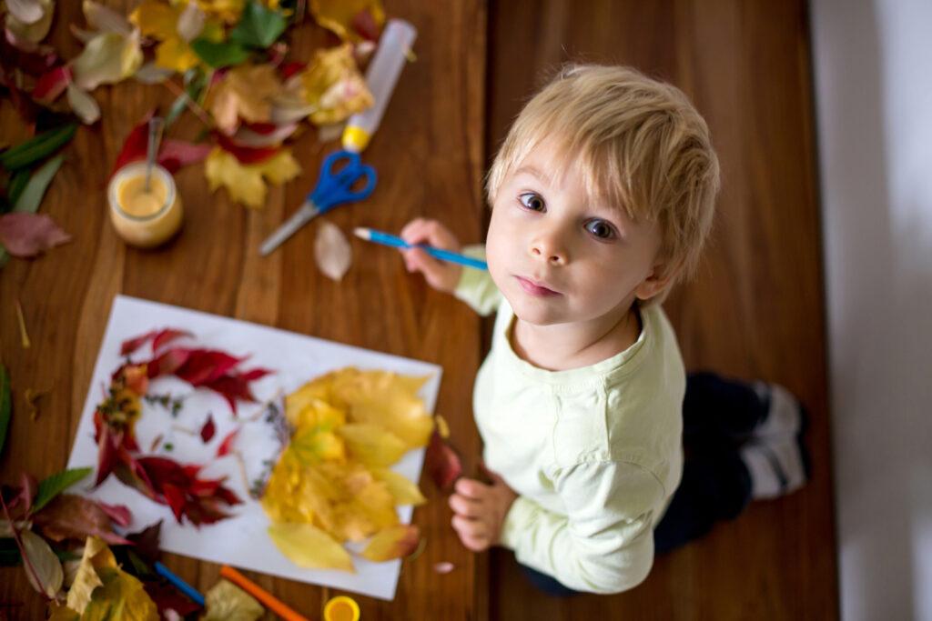 Eight autumn leaf craft ideas